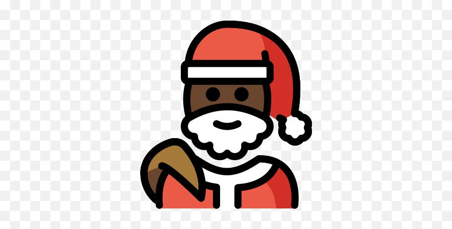Dark Skin Tone Emoji - Santa Emojis,Black Santa Emoji