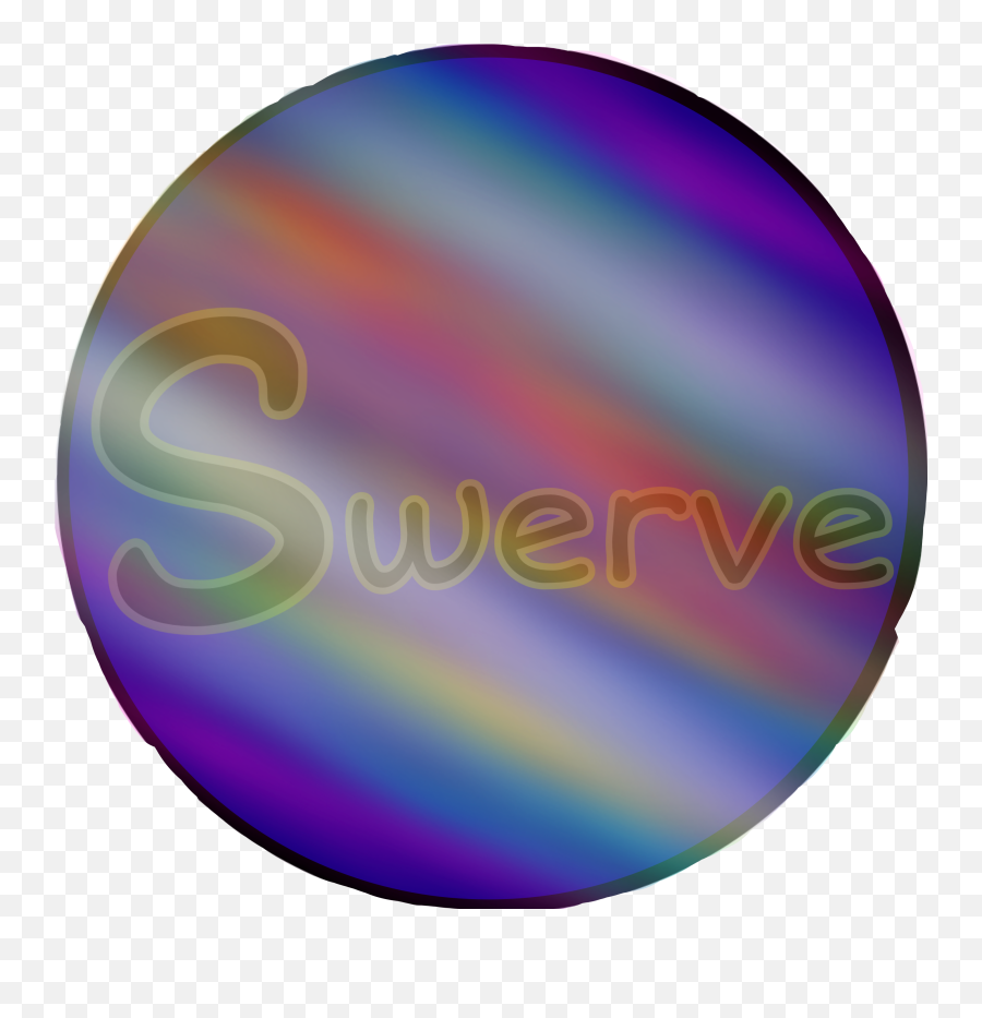 Swerve Logoswerve Sticker Rainbow Blue - Circle Emoji