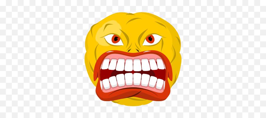 Rage Icons - Emoji Boos Mond Open