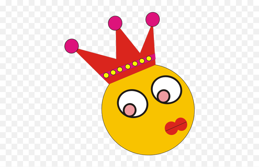 Female Clown Characters Head Clip Art - Emoticon Ratu Emoji,Crown Emoticon