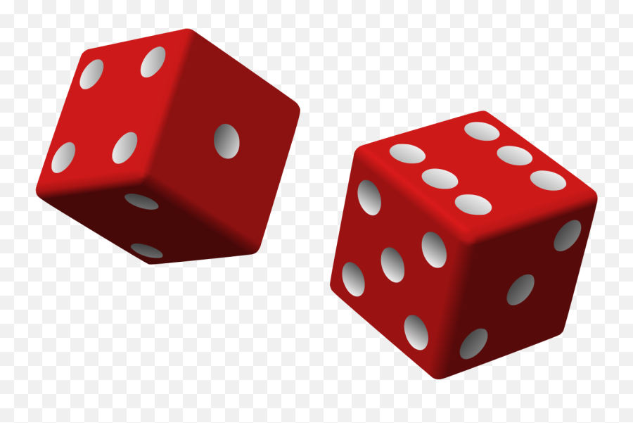 Two Red Dice 01 - Dice Clip Art Emoji