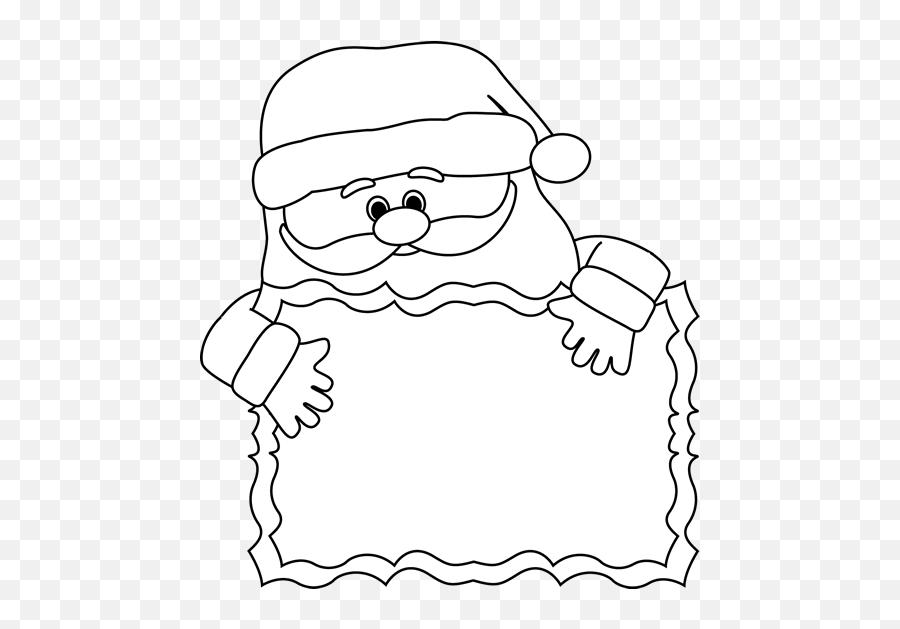 Christmas Clipart Black And White Santa - Santa Beard Writing Template Emoji,Black Santa Emoji