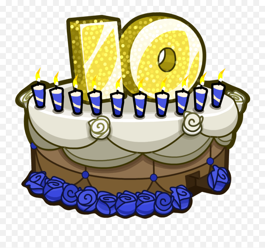 Happy 10th Anniversary To Forum - Birthday Cake Emoji