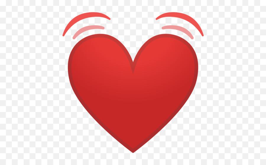 Beating Heart Emoji - Heart Emoji Iphone Png,Sparkling Heart Emoji