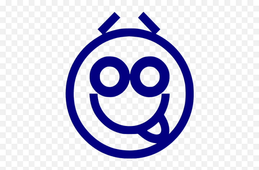 Navy Blue Emoticon 20 Icon - Circle Emoji