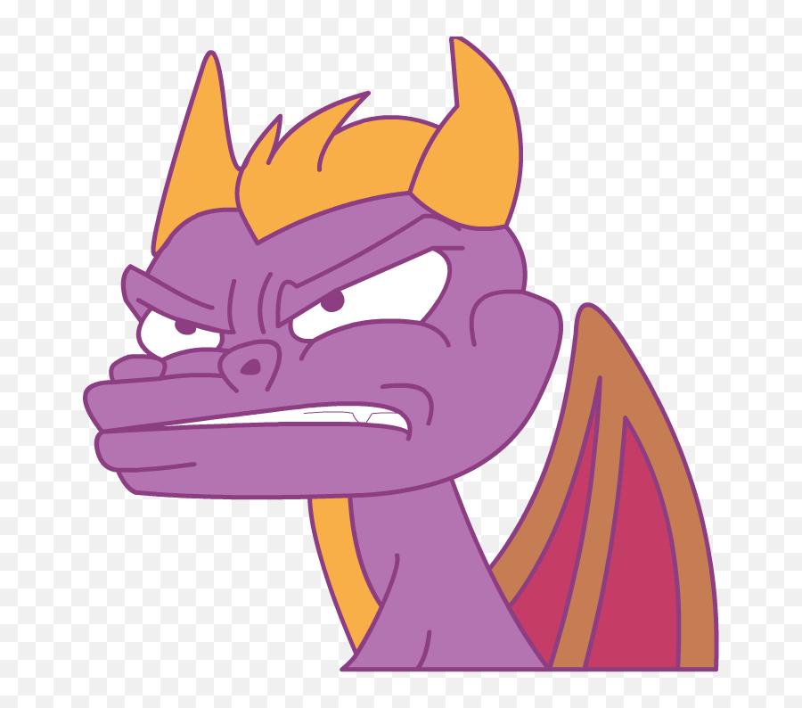 Spyro Rage - Cartoon Emoji