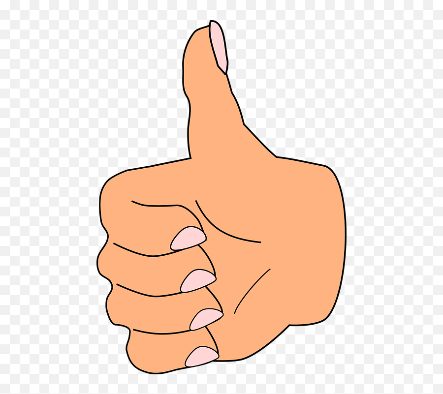 Thumb Up Like - Thumb Clipart Emoji