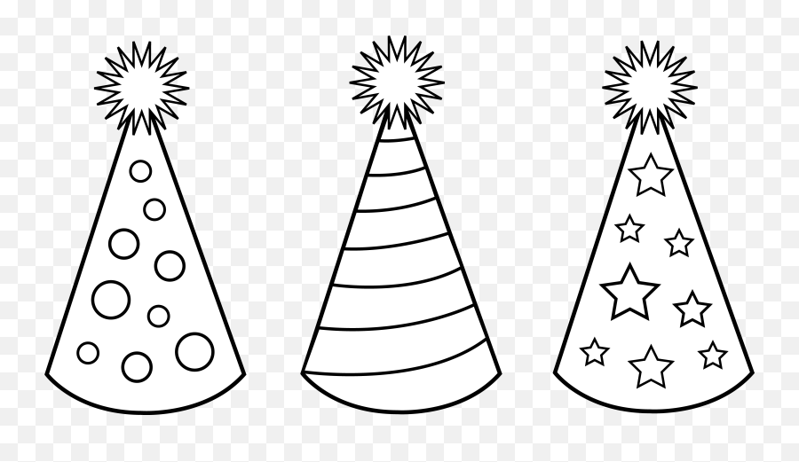 Free Pictures Of Birthday Hats - Birthday Party Hat Coloring Page Emoji