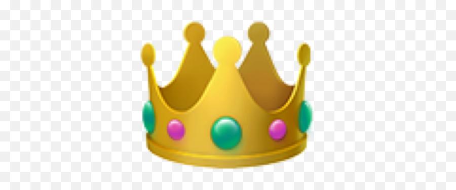 Crown Emoji Interesting Summer Party Queen Gold - Iphone Crown Emoji Png