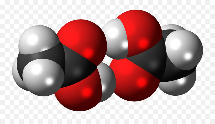 Acetic Acid Dimer 3d Spacefill - Acetic Acid Space Filling Emoji