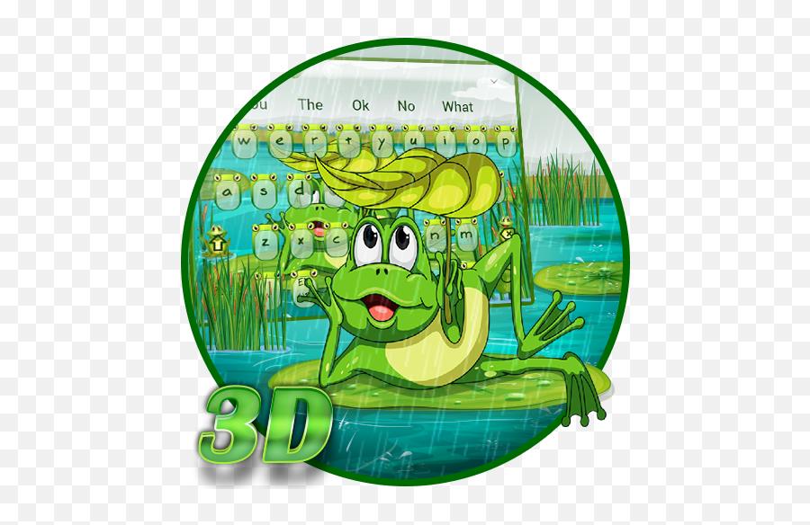 3d Live Cute Frog Nature Keyboard Theme - Google Playko Illustration Emoji,Peas Emoji