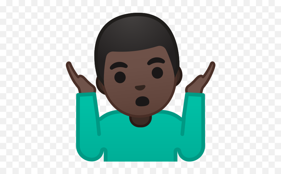 Dark Skin Tone Emoji - Man Shrug Emoji