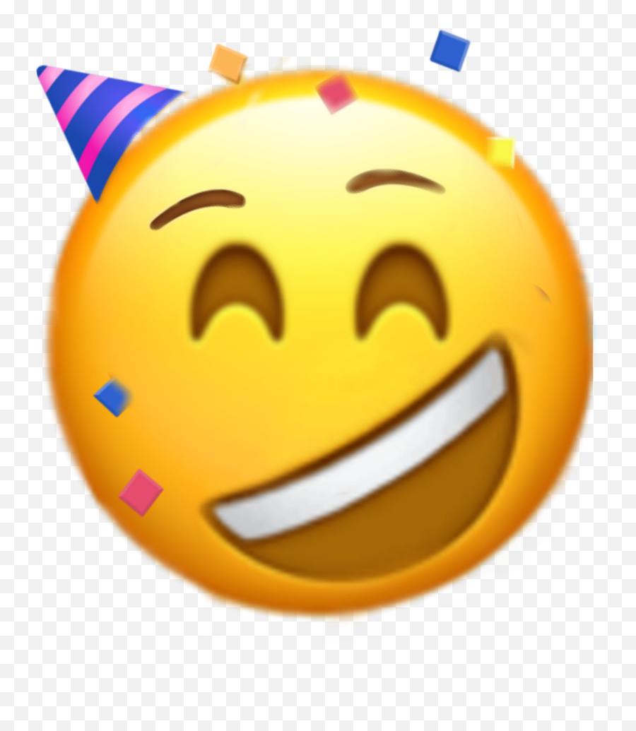 Emoji Feliz Cumpleaños Sticker - Happy,Emoticon Feliz