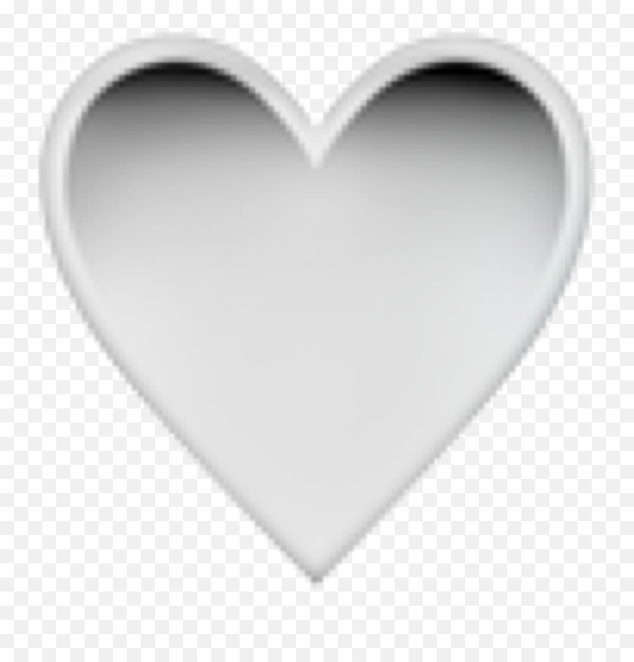 heart black emoji iphone gradient white blackwhite stic - Heart