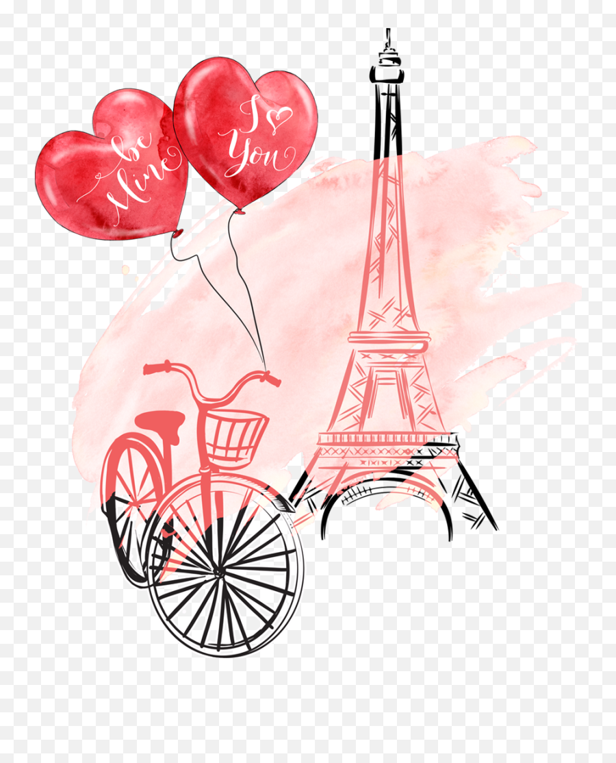 Papel De Parede De - Eiffel Tower With Heart And Flowers Png Emoji,Eiffel Tower Emoji Iphone