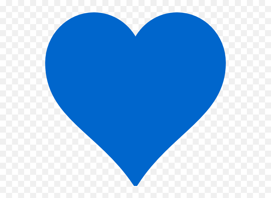 Blue Clipart Heart - Transparent Background Royal Blue Heart Clipart Emoji