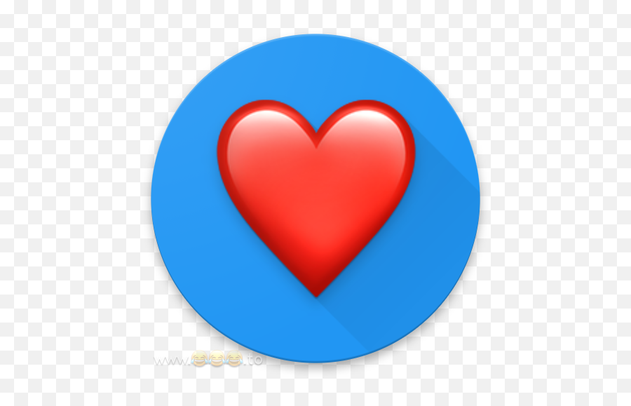 What Is The Punycode For The Heart Emoji - Heart Emoji On Blue Background
