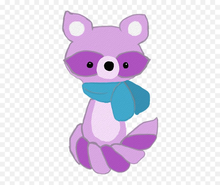 Raccoon Purple Cartoon - Cartoon Emoji,Apple Animated Emojis
