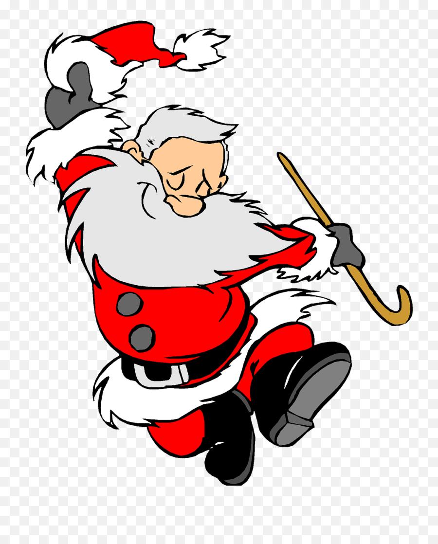 Christmas Holiday Clip Art Santa Clause - Dancing Santa Cartoon Emoji,Christmas Emoticons Copy And Paste