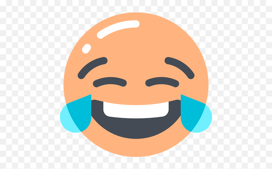 Joy of tears with face icon - Happy Emoji