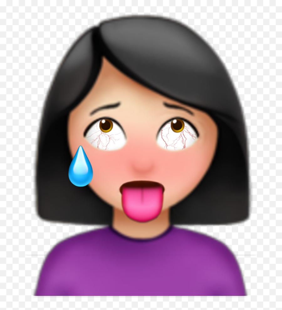 Ahegao Girl Emoji Girl Aesthetic Ahegaoface Ahegao - Aesthetic Girl Emoji,Ahegao Emoji