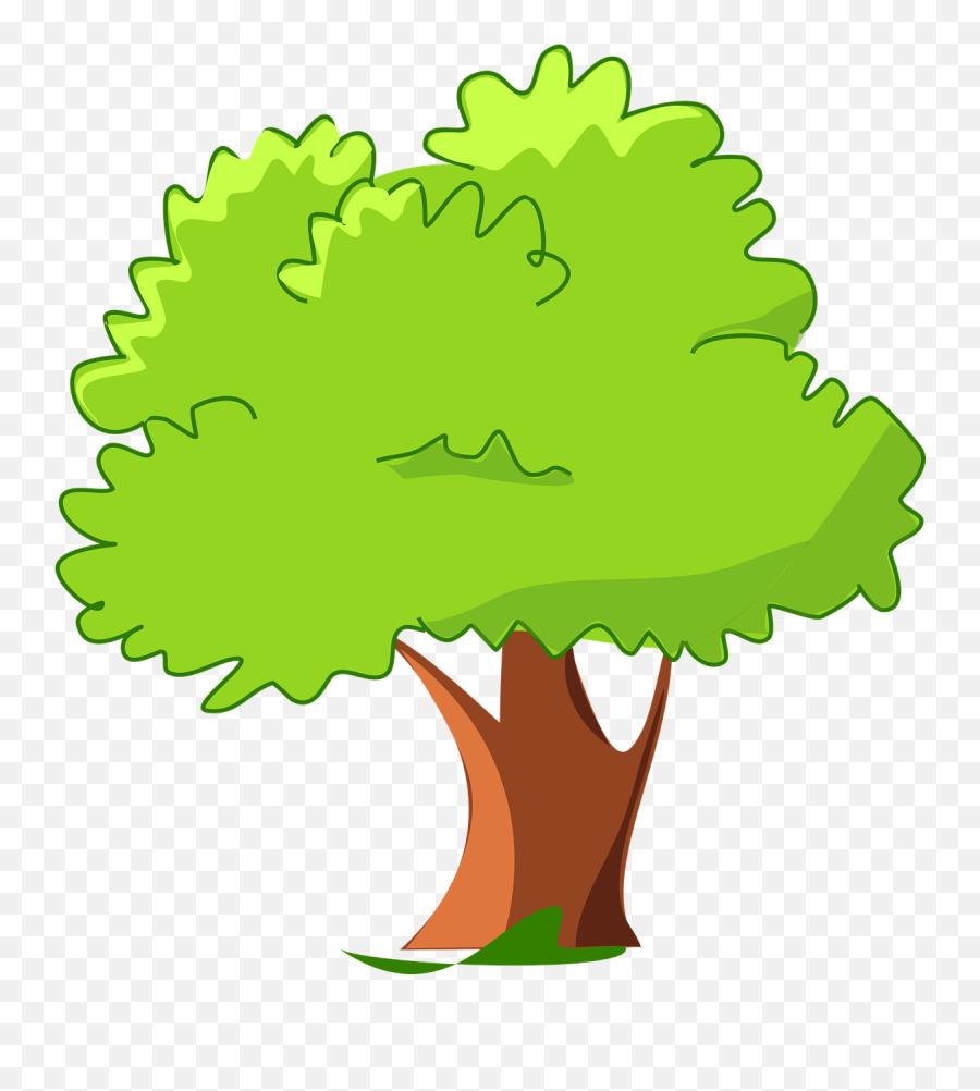 Cartoon Green Happy Tree Free Vector - Cartoon Tree Transparent Background Emoji,Christmas Tree Emoticon