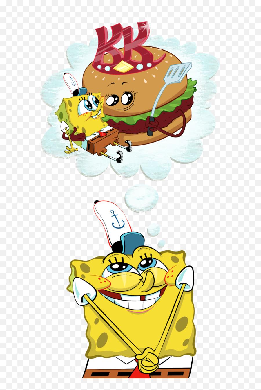 Krusty Krab Patty Queen - Spongebob Creature From The Krusty Krab Art Emoji,Spongebob Emoji Iphone