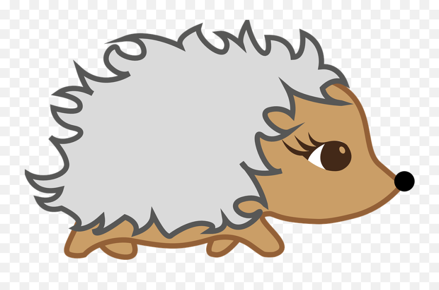 Free Garden Flower Vectors - Cartoon Hedgehog No Background Emoji
