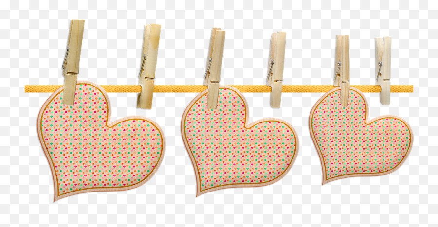 Hanging Hearts Heart Clothesline - Hanging Hearts Png Transparent Emoji,Iphone Peach Emoji