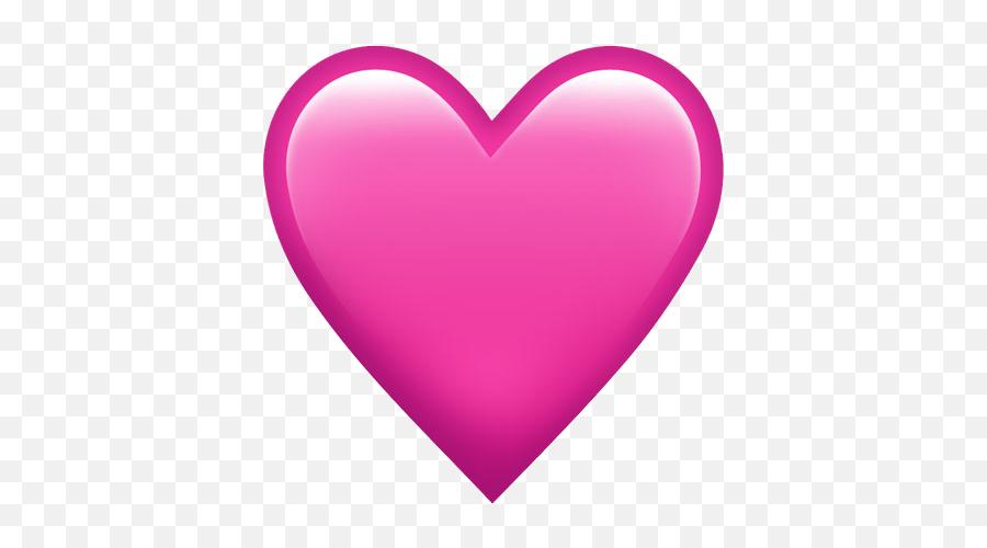 Pink Heart Emoji Png - Plain Pink Heart Emoji,Sparkling Heart Emoji