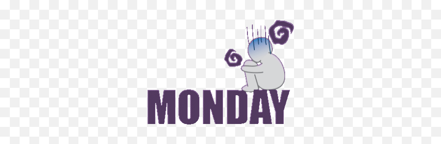 Monday Blues Stickers For Android Ios - 7 Days A Week Gif Emoji