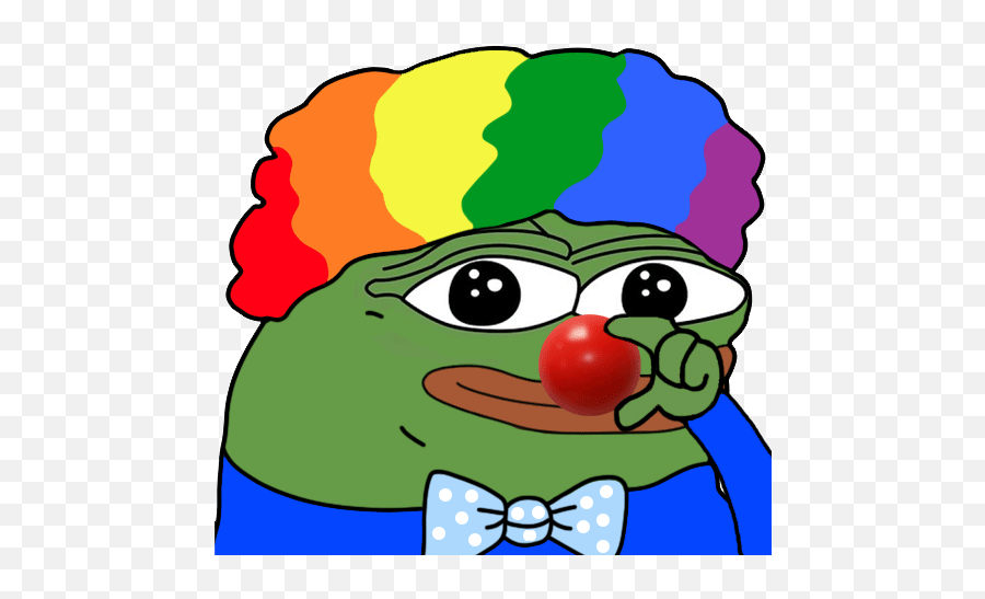 Honk Honk The Clown And Bitcoin Are Racist Tools - Honk Honk Pepe Gif Emoji