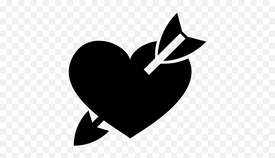 Emojione Bw 1f498 - Black Heart With Arrow Emoji,Sparkling Heart Emoji