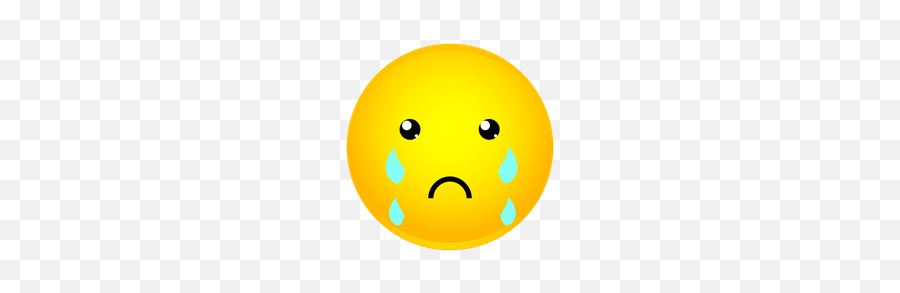 Crying Emoji Icon Of Gradient Style - Available In Svg Png Smiley,Crying Tears Of Joy Emoji