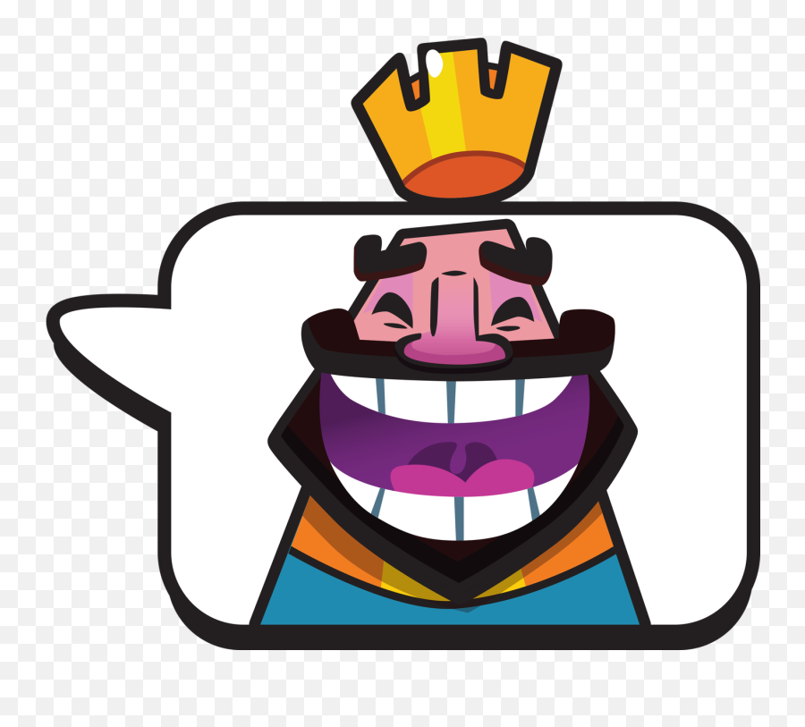 How Many Emotes Does The King Have In Clash Royale - Clash Royale Emoticon Png Emoji,Crying While Laughing Emoji