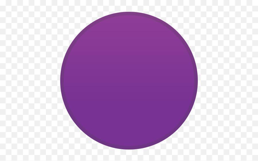 Purple Circle Emoji - Circle