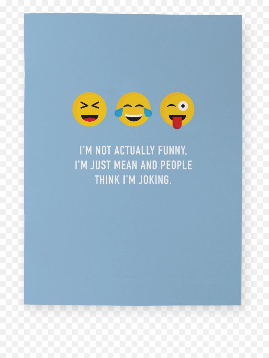 Think Im Funny Pocket Notebook - Smiley Emoji