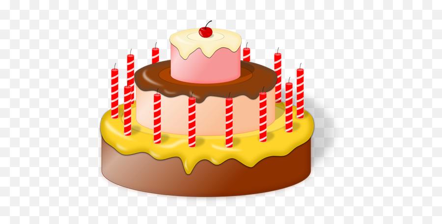 Image Of Birthday Cake With Cherry - Birthday Cake Animation Png Emoji,Birthday Cake Emojis