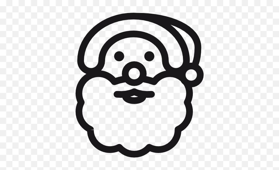 Santa Claus Icon Christmas Iconset Daniele De Santis - Christmas Icons Black And White Emoji,Black Santa Emoji