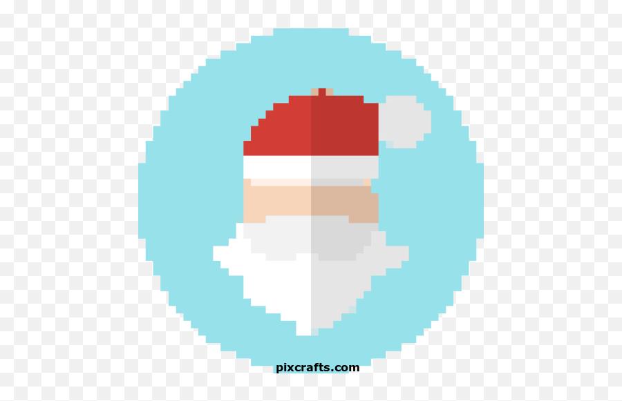 Free Pixel Art - Pixel Art Logo Tik Tok Emoji,Santa Clause Emoticon
