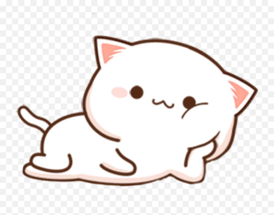 Kitty Kitten Cat White Kawaii Soft Mochi Chibi Cute Sti - Cartoon Emoji,Black And White Cat Emoji