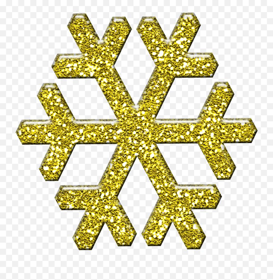 Clipart Snowflake Yellow Clipart Snowflake Yellow - Gold Snowflake Clipart Emoji,Snowflake Sun Leaf Leaf Emoji