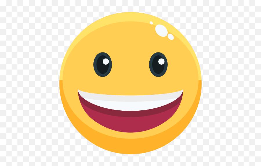 Smile - Wow Icon Emoji,Open Eye Crying Laughing Emoji Png