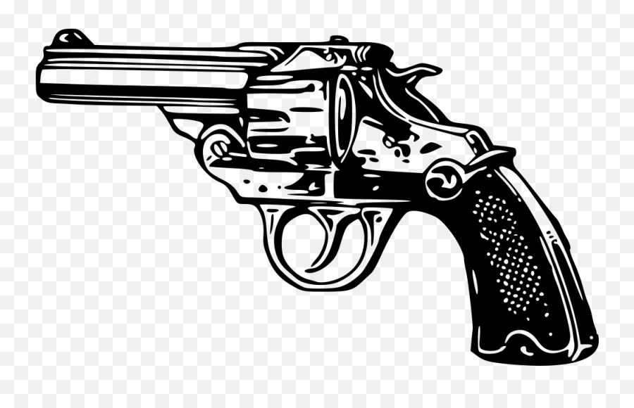 Pistol Clipart Weapon Pistol Weapon Transparent Free For - Black And White Guns Emoji