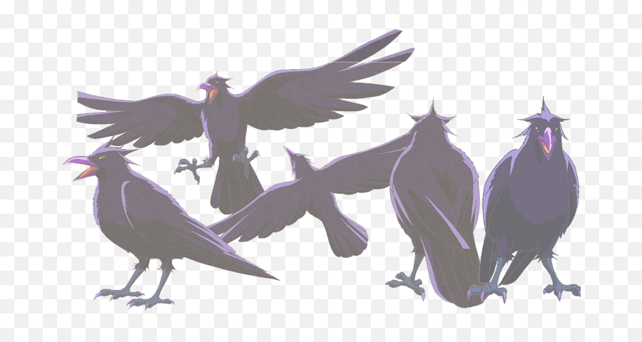 Anime Crow Bird Transparent Png - Anime Crow Png Emoji