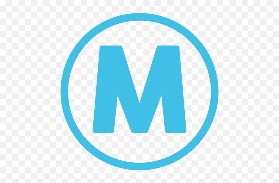 Circled M Emoji - Circle,\m/ Emoji