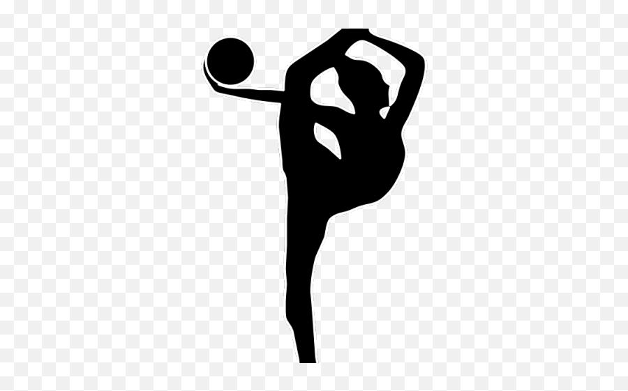 Gymnastics Clipart Clipart Flip - Rhythmic Gymnastics Ball Silhouette Emoji,Gymnastics Emoji For Iphone