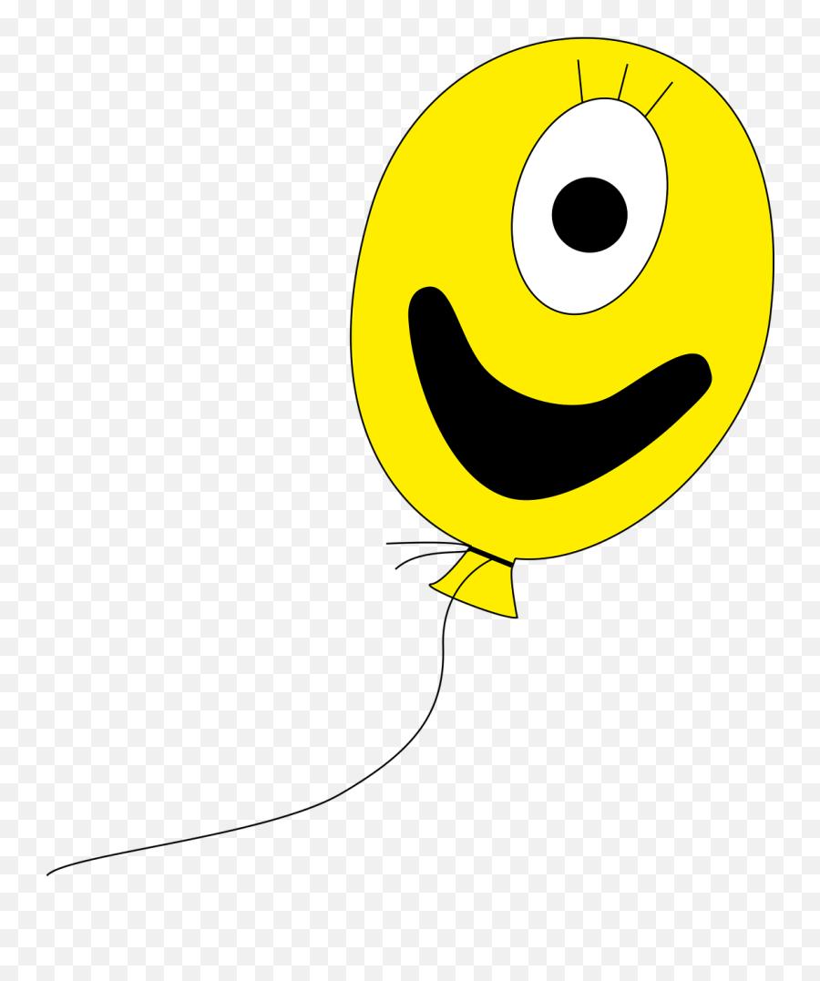 Balloon Yellow Colorful Childrens Birthday Celebration - Birthday Emoji,Happy Birthday Emoticon