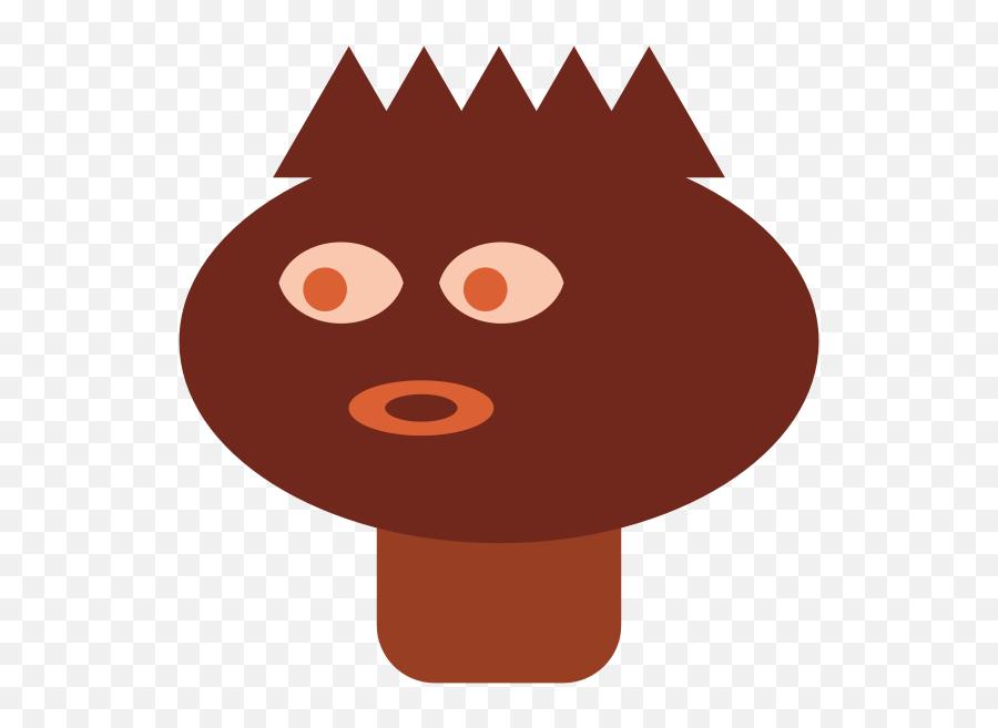Mahogany Head - Cartoon Emoji,Crown Emoticon