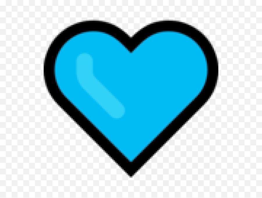 On Microsoft Windows - Blue Heart Emoji